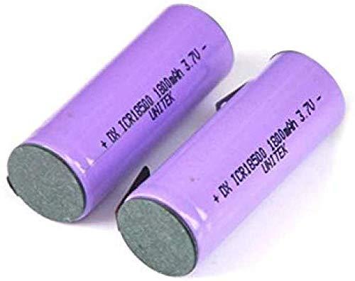 Compatible para 2 Habitaciones 3.7 V 18500 Ion de baterías de Litio Recargable 1800 MAH Li-Ion Cell con Pestañas Pines Soldando para Altavoz Antorchas Electértil Razor