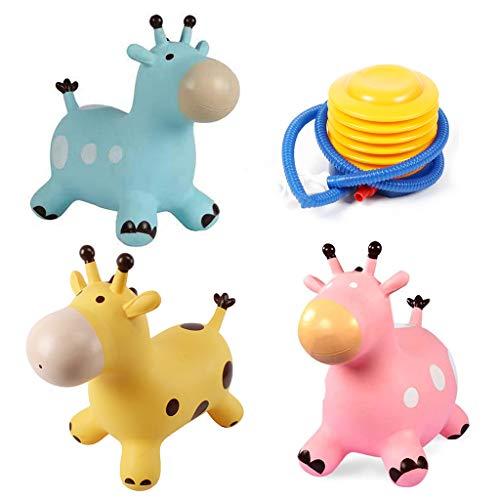 Museourstyty Toys Inpany Bouncy Giraffe Hopper Springen Tier Spielzeug niedliches Tier Geschenk für Kinder (Farbe zufällig)