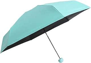 Hot Sale!DEESEE(TM)🌸🌸Mini Pocket Compact Umbrella Sun Anti UV 5 Folding Rain Windproof Capsule Case (Sky Blue)