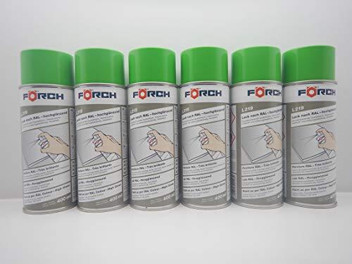 Farbe GELBGRÜN GELB GRÜN RAL 6018 Lack LACKSPRAY Spray SPRAYDOSE 400ML (6)