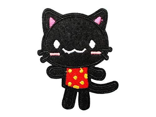 Miniblings del Gato de Kawaii pano Rojo de Nino de Revision Parche 77x50mm Parche I Ninos Tabla de Parches Parches para un Planchado
