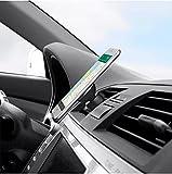 Soporte Móvil Coche Magnetico, Soporte Movil Coche Iman Magnetic para Rejilla 360° Rotación Iman Potente para iPhone 12 11 Pro, Samsung S21 S9, Xiaomi Redmi 9, Redmi Note 9 8 (Dorado y Negro)