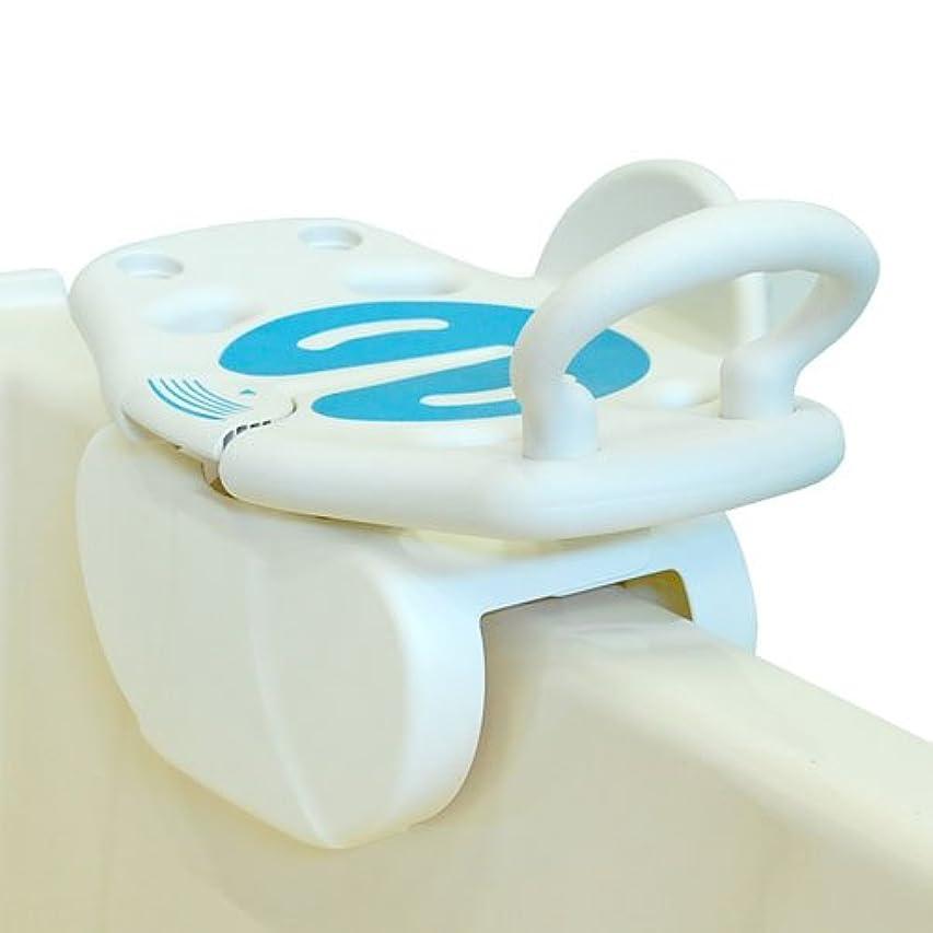 必要性注釈ロック解除回転式バスボード 座面すわって回転し浴槽移動らくらく。安心使いやすいバスボード
