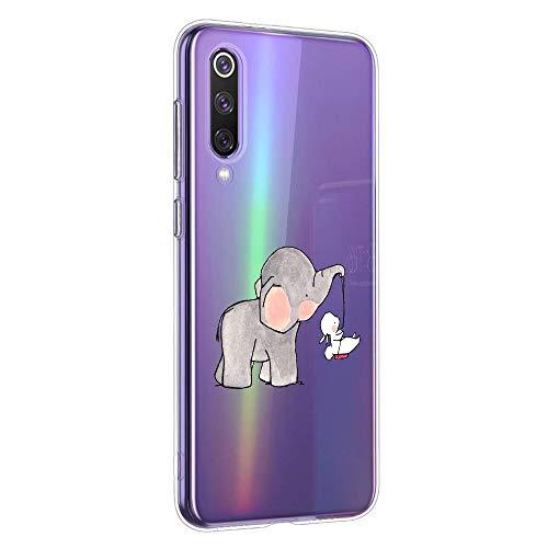 Oihxse Animal Serie Case Compatible con Xiaomi Redmi S2 Funda Transparente Suave Silicona Elefante Conejo Patrón Protector Carcasa Ultra-Delgado Creativa Anti-Choque Cover (A4) ⭐