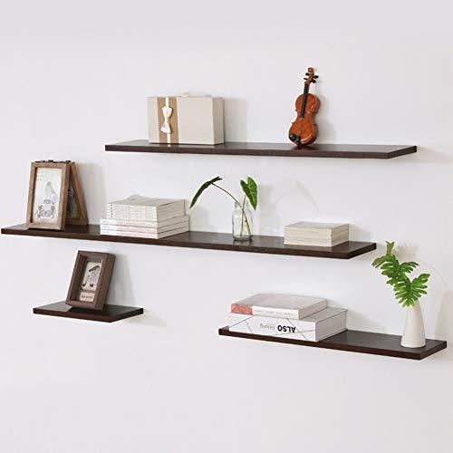 Modern - 4 Stuks Houten Wandframe - Woonkamer Decoratieve Planken, Wandmontage Zwevende plank, Eiken Boekenkast, 15 Cm Breed