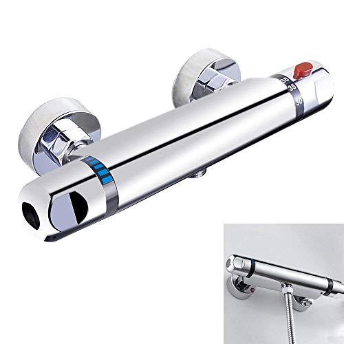Binchil Grifo Termostatico Ducha Grifos de Bañera Mezclador Termostático Ducha Moderno Cromo para Baño Anti Escaldado