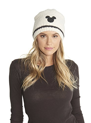 Barefoot Dreams CozyChic Adult Classic Mickey Mouse Beanie Disney Series Cream/Carbon