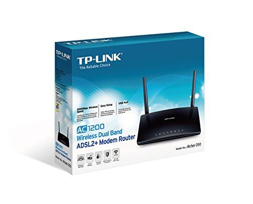 TP-Link ARCHER D50 AC1200 Wireless Router DSL-Modem 802.11a/b/g/n/ac Desktop