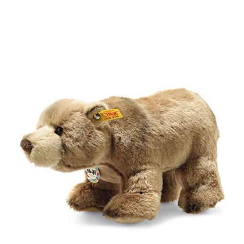 """Steiff 69420 Original Plüschtier Braunbär Back in Time Baerlie, Kuscheltier ca. 28 cm, Markenplüsch Knopf im Ohr"""", Schmusefreund für Babys von Geburt an, braun"""