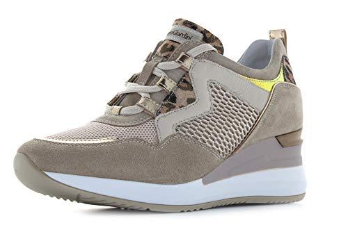 Nero Giardini Sneakers Camoscio Beige, Beige, 35