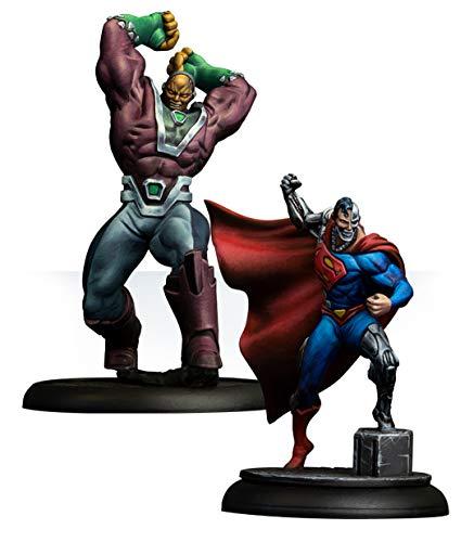 Knight Models Juego de Mesa - Miniaturas Resina DC Comics Superheroe - Cyborg Superman & Mongul