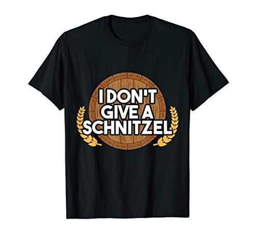 Alkohol Schnitzel Bier Humor Outfit I Party Saufen Beer T-Shirt