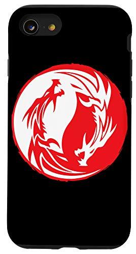 iPhone SE (2020) / 7 / 8 Chinese Dragon Yin Yang Kanji Japanese Asian Traditional Case