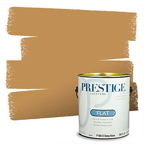 Prestige Paints Interior Paint and Primer In One, 1-Gallon, Flat, Comparable Match of Sherwin Williams* Bosc Pear*
