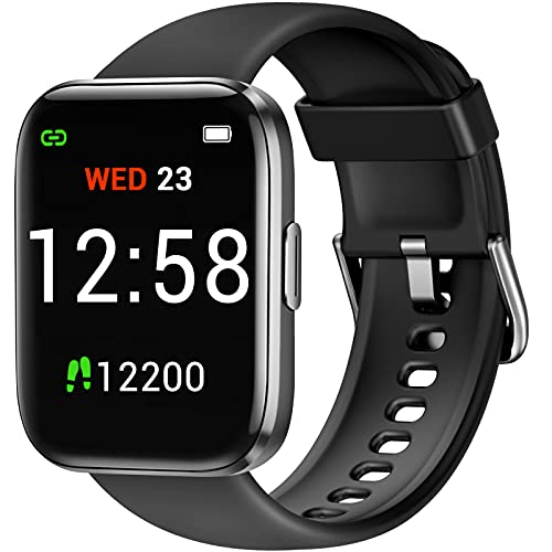 Fitniv Smart Watch, 1.4 Inch Touch Screen Smartwatch with Blood Oxygen Saturation & Heart Rate Monitor, IP68 Waterproof Fitness Tracker Compatible with iPhone and Android Phones for Women Men