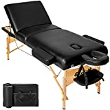 TecTake Premium - Camilla de masaje - disponible en diferentes colores - (Negro | no. 400279)