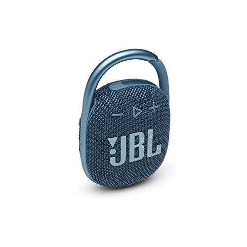 JBL Clip 4 - Portable Mini Bluetooth Speaker, Big Audio and Punchy bass, Integrated Carabiner, IP67 Waterproof and dustproof, 10 Hours of Playtime, Speaker for Home, Outdoor and Travel - (Blue)