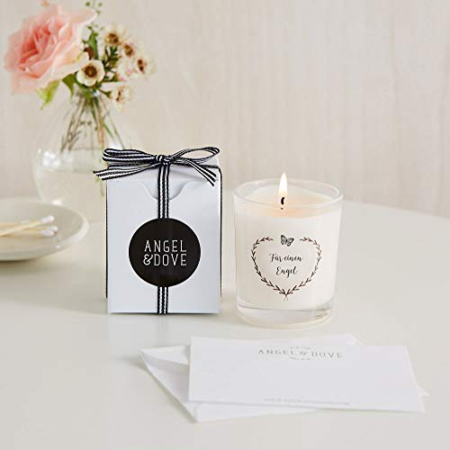 Angel & Dove Vela votiva en alemán con caja de regalo con...
