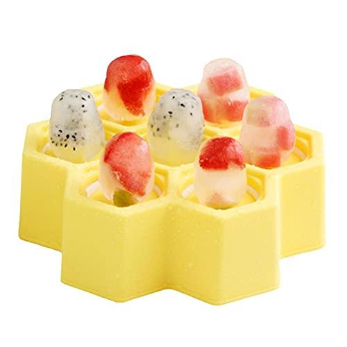 Tixiyu Moldes para paletas, Mini paletas de silicona para niños, Moldes de hielo sin BPA, Moldes reutilizables para helados, bandejas de cubitos de hielo antiadherentes para bebés y niños