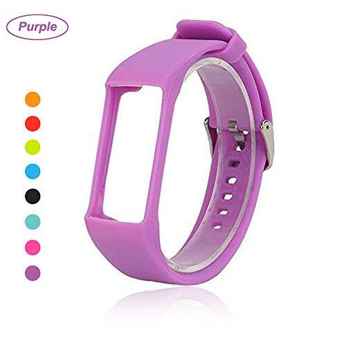 Bemodst® Armband für Polar A360 Fitness-Tracker, Ersatzzubehör Uhrenarmband, weiches Silikon Schreibband Armband für Polar A 360 Smartwatch, violett