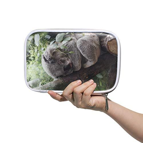 Federmäppchen Tiere Mammal Koala Fell-süße Federmäppchen Halter Multifunktions Stifteetui mit Reißverschluss für Teenager, Mädchen, Jungen, Schule, Studenten, große Kapazität Schreibwaren Tasche Leder