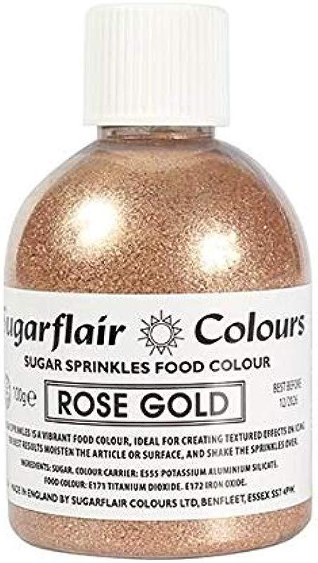 Rose Gold Sugar Shaker Sugarflair Sugar Sprinkles Food Colour