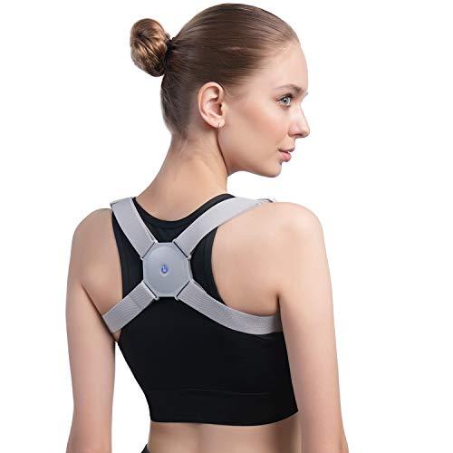 Konjac Posture Corrector with Intelligent Sensor Vibration Reminder Adjustable Back Brace Straightener Smart Posture Reminder and Humpback Correction Trainer for Men Women and Kids