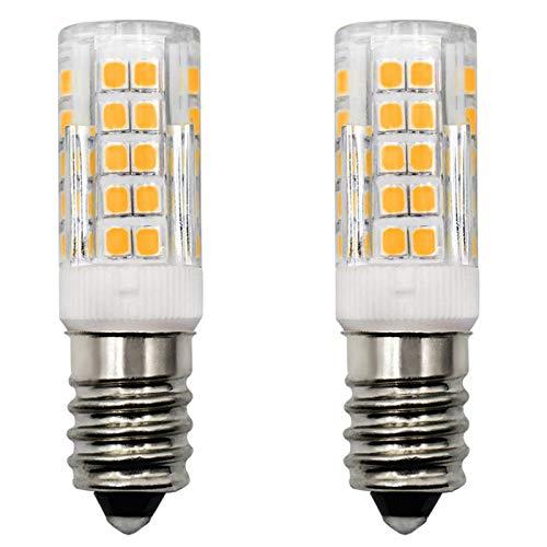 Bombilla LED E14, 3,5 W, para campana extractora (equivalente a halógeno de 40 W), blanco cálido, 3000 K CA, 230 V, bombilla de maíz, no regulable, para nevera, pared, lámpara de mesa, 2 unidades