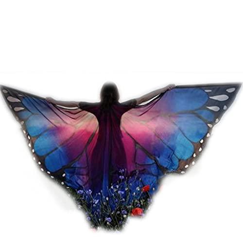 Huachaoxiang Moth Alas Mariposa Capa Mariposa Bufanda ala NINFA Pixie Disfraces Accesorios Bufandas...