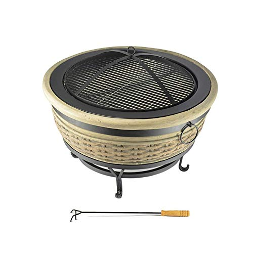 DYR Outdoor Bowl Garden Stone Barbecue Grill Bonfire Grill Heating Brazier Magnesia Round Table Table Stove