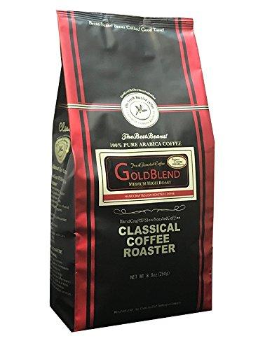 コーヒー豆 クラシカルコーヒーロースター 100%アラビカ豆 ゴールドブレンド 250g (8.8oz) 粗挽
