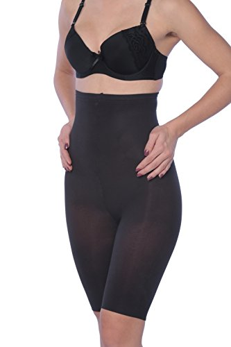 Hanes Plus Size High-Waisted Thigh Shapers - Extended Sizes - Black - Large