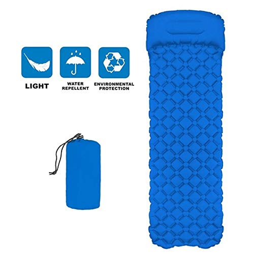 ZYYAY Sleeping Pad Self Inflating, Durable, Ultra Compact, Best Sleeping Pads for Backpacking, Camping, Travel, Hiking, Lightweight Camp Sleep Pad Mat Air Mattress (Color : Blue)
