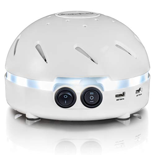HemingWeigh White Noise Sound Machine  Quality Sounds Masks Disturbing Noise and Reducing Sound for Improved Sleep Relaxation and Enriched Concentration - Built in USB & LED Night Light.