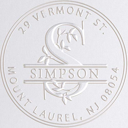 Monogram Address Embosser Seal Stamp Personalized Customized Monogram Wedding Invitations 1 x 5/8