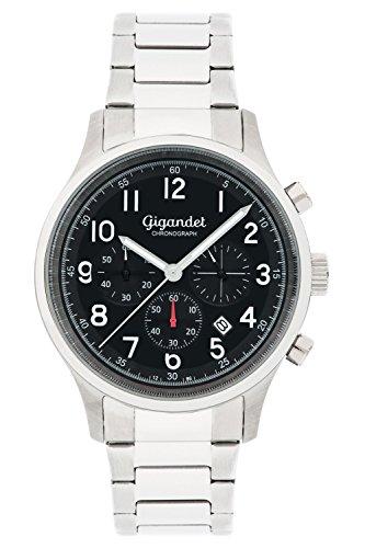 Gigandet Herrenuhr Chronograph Quarz Analog mit Edelstahlarmband G50-003