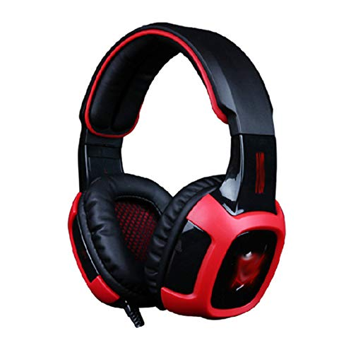 YPJKHM Casque Gaming 7.1 canaux Vibration Computer Headset Over-Ear Headphones-Red