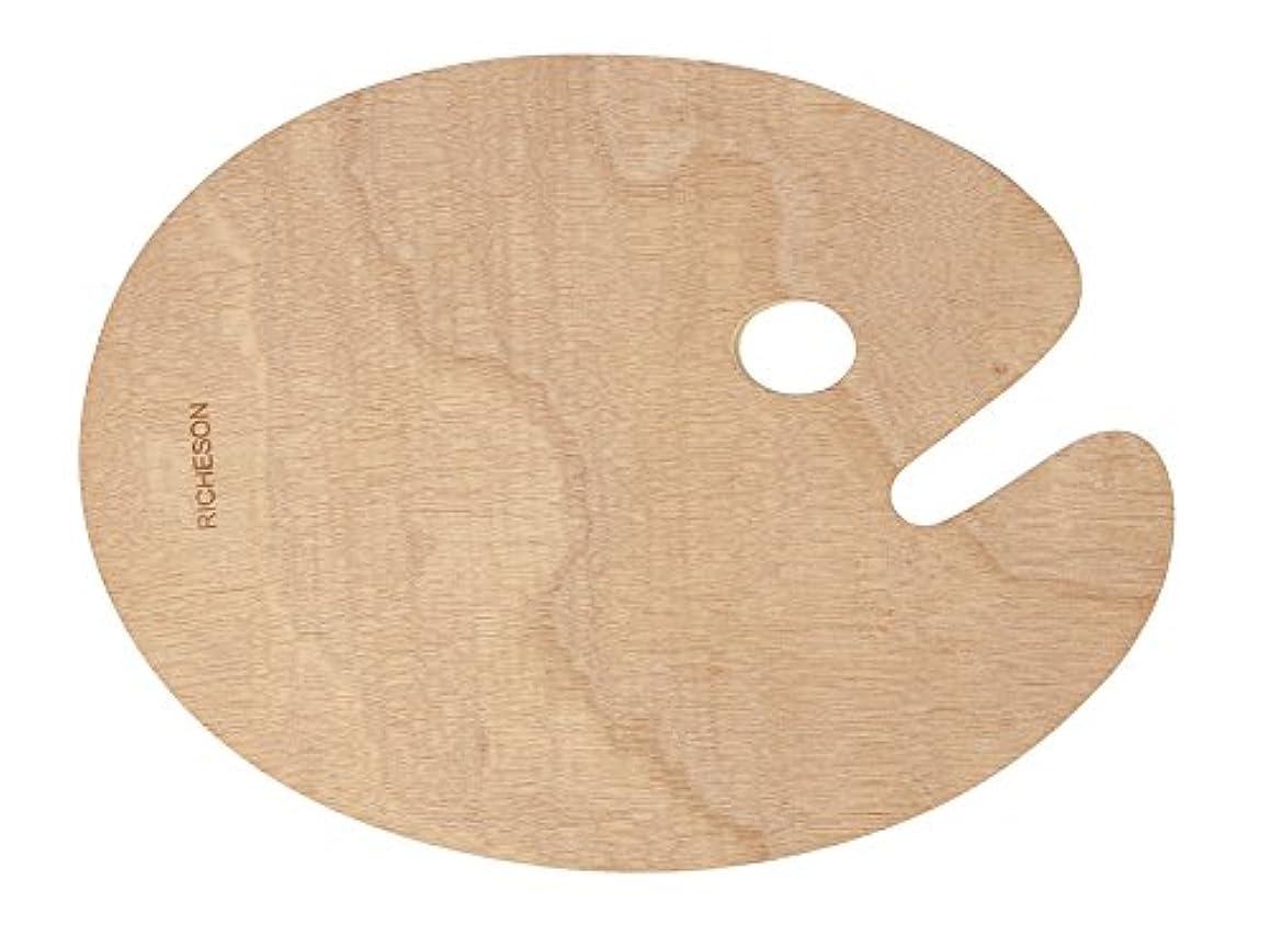 Jack Richeson 696037 Wooden Oval Palette, 12
