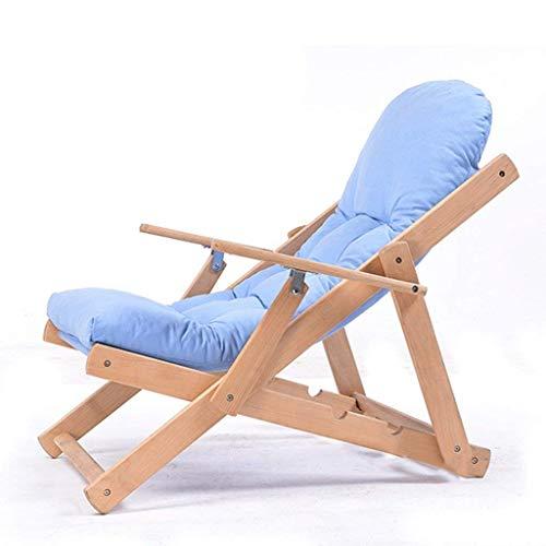 Balancelle de jardin Chaise pliante Loungers pliante réglable Canapé inclinable Chaise longue de jardin Chaise longue Reclining Sun Chaise Coussin classique Jardin Patio Chaise Napping Chaise (couleur