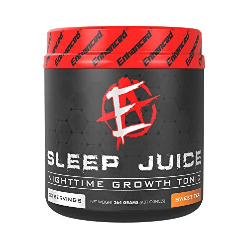Enhanced Labs Sleep Juice Powder Supplement (30 Servings) for Bodybuilding–Calming Insomnia Sleep Aid with Melatonin, GABA, Magnesium, L-Theanine, Valerian, Passion Flower, 5-HTP – Non Habit Forming