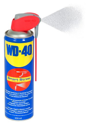 WD-40 Multifunktionsspray, Kontakt-, Teflon-Schmiermittel, Fahrrad-, Bike-, Auto-, Ketten-, Motorrad-Spray, 450-Ml Sprühdose, Smart-Straw, Blau - 4