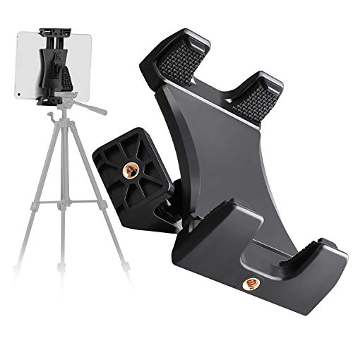 Cenawin Universal Tablet Stativ Halter Clip Mount Halterung Adapter Kompatibel mit Selfie Stick Stange Kamera Einbeinstativ Tri-pod für iPad Pro iPad Mini iPad Air, 4,7-12,9