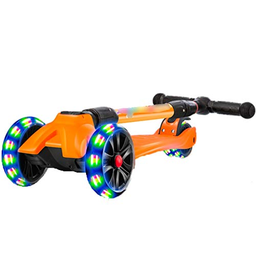 Why Choose Kick Scooters Children's Scooter 1-12 Years Old Child yo-yo Small Partner Flash Four-Whee...