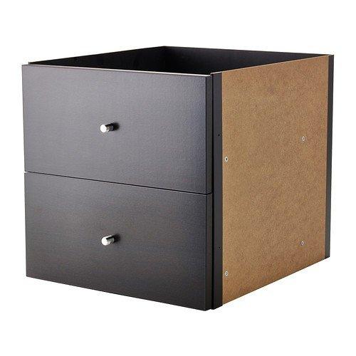 Ikea Kallax armadietto a cubo (33 cm di lato), con sportello, compatibile con Ikea Expedit, marrone scuro