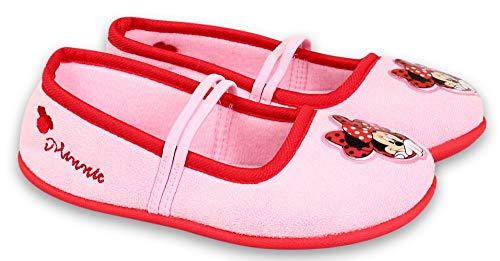 Coole-Fun-T-Shirts Minnie Mouse Mädchen Hausschuhe Pantoffeln Ballet Schuhe rutschfeste Sohle weich gepolstert ROSA GR.27