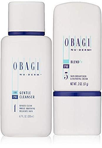 Obagi Nu-Derm Gentle Cleanser And Obagi Nu-Derm Blend Fx.