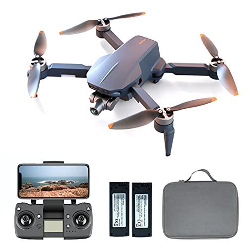 LICI Collassabile Fotografia Aerea Drone,ICAT5 5G 6K HD Senza Spazzole Drone 2 Assi Gimbal Autostabilizzante 4 Assi Aerei Doppia Batteria RC Drone,con Portatile Zaino