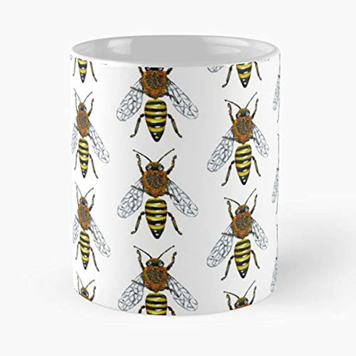 Bee Bees Honey Nature - Funny Sophisticated Design Great Gifts -11 Oz Coffee Mug.the Best Gift For Holidays.