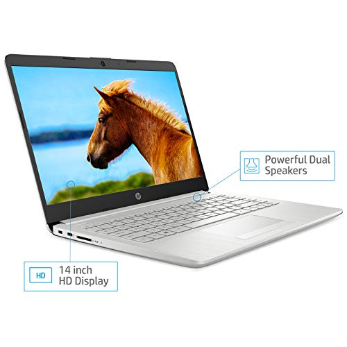 HP 14 10th Gen Intel Core i5 Processor 14-inch Laptop (i5-1035G1/8GB/1TB HDD + 256GB SSD/Win 10 Home/MS Office/Natural Silver ),14s cs3009TU