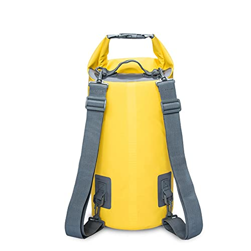 TKMOP - Bolsa seca impermeable de 15 l, correa de hombro ajustable, impermeable, para kayak, barco, canoa, pesca, rafting, natación, snowboard